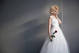 Šaty - Svadobné šaty s tylovou sukňou do A - 6098277_