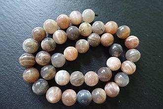 Minerály - Mesačný kameň hnedosivý 10mm - 6100624_