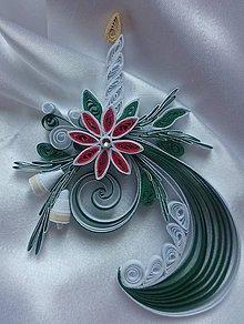 Dekorácie - Vianočná dekorácia so sviečkou - 6100336_