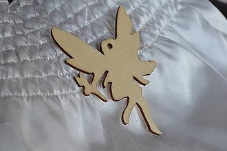 Polotovary - ❄️Drevený vyrez víla, 86mm, z 0.60 na 0.30€/ks - 6099951_