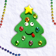 Magnetky - Vianočný stromček s osobnosťou 5 - bláznivý - 6101257_