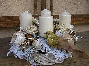 Dekorácie - sviečky na advent. veniec pre Zuzku - 6098424_