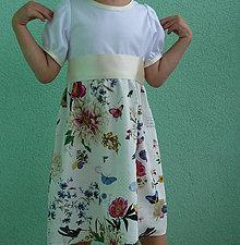 Detské oblečenie - Šaty kvetové s motýľmi a stuhou - 6103399_