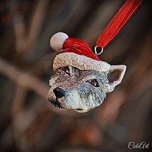 Dekorácie - Československý vlčiak - vianočná ozdoba podľa fotografie - 6102589_