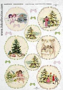 Papier - ryžový papier Vintage Vianoce - 6105089_