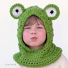 Detské čiapky - Žabiatko zakuklené - 6103770_