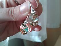 Náušnice - SW Xilion Oval Crystal Luminous Green v striebre - 6103444_