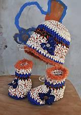 Detské súpravy - setik ciapka cizmicky rukavice - 6103365_