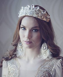Ozdoby do vlasov - Čelenka-Korunka nr.5 - kolekcia Miss 2015 by Hogo Fogo - 6103698_