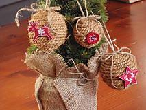 - Vianočné gule s červenými ozdobami -sada 3 kusy - 6103764_