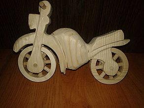 Hračky - Motorka drevená malá  - 6102015_