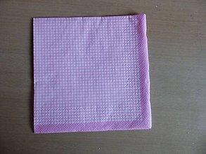 Papier - ružové káro - 6103074_