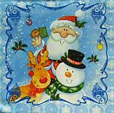 - S519 - Servítky - Santa, snehuliak, sob - 6109939_