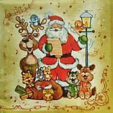 - S524 - Servítky - vianoce, sob, santa,  - 6110726_