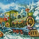 - S525 - Servítky - vianoce, vlak - 6110739_