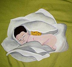 Tehotenské oblečenie - Zelené tričko s bábätkom v kvete, nielen pre tehuľky - 6109011_