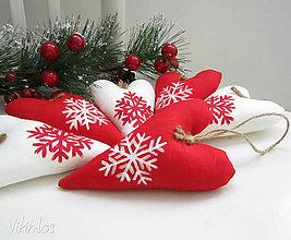 Dekorácie - Padá vločka, vianočná... - 6107304_