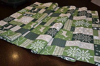 Úžitkový textil - Štóla zelené Vianoce - 6109060_