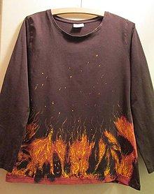 Tričká - Ohnivé plamene v divom tanci - 6114300_