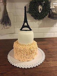 Dekorácie - Eiffelova veža-zápich do torty - 6111426_