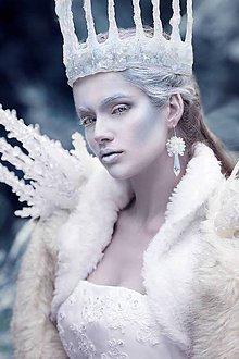 Náušnice - Ľadovej kráľovnej...náušnice - 6113294_
