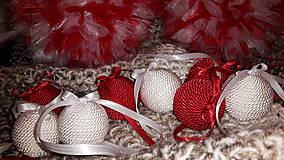 Dekorácie - Dekoračné  vianočné  gule - 6111681_