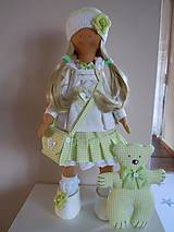 Bábiky - Stella s kabelou a medvedíkom - 6111081_