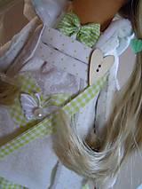 Bábiky - Stella s kabelou a medvedíkom - 6111087_
