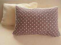 Textil - Ovčie rúno Merino súprava do postieľky prikrývka 100x140 cm s Vankúšom 40 x60 cm Hviezdička hnedá - 6110893_