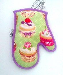 Úžitkový textil - chňapka Ružička - 6116775_