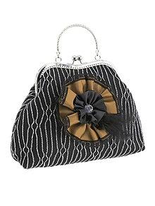 Kabelky - Spoločenská dámská kabelka čierno strieborná 08U - 6118610_