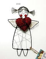 Dekorácie - Anjelik lásky... - 6117461_