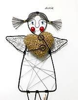Dekorácie - Anjelik pre šťastie... - 6117503_