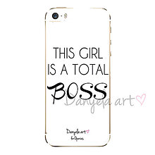 Na mobil - THIS GIRL IS A TOTAL BOSS phone case - 6117265_