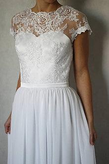 Šaty - Svadobné šaty z tylovej krajky a holým chrbátom - 6116796_