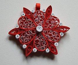 Dekorácie - Vianočná ozdoba na stromček - červená - 6118753_