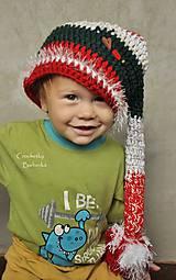 Detské čiapky - vianocka - 6117223_