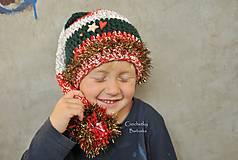 Detské čiapky - vianocna ciapka - 6117253_