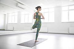 Nohavice - Chakras Yoga legínky - turquoise - 6116791_
