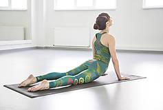 Nohavice - Chakras Yoga legínky - turquoise - 6116792_