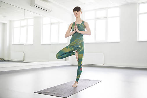 Nohavice - Chakras Yoga legínky - turquoise - 6116790_