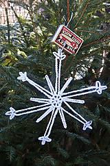 Dekorácie - Háčkovaná veľká vianočná vločka 3 - 6117000_