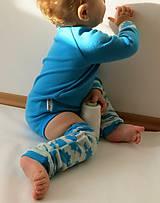 Detské oblečenie - Tyrkysové merino body - veľkosť 86 - 6123156_