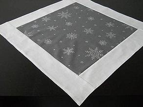 Úžitkový textil - Obrus - Strieborné vločky IV - 6122781_
