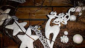 Dekorácie - Vianočný  veniec Biely Sob - 6120464_