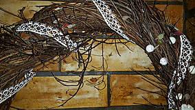 Dekorácie - Vianočný  veniec Biely Sob - 6120465_