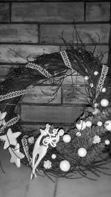 Dekorácie - Vianočný  veniec Biely Sob - 6120683_