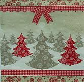 - S541 - Servítky - stromčeky, mašľa, zima, vianoce - 6122865_