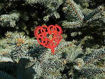 Dekorácie - Vianočné srdiečko 3 - 6122882_