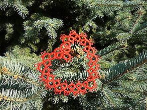 Dekorácie - Vianočné srdiečko 4 - 6122922_